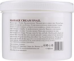 Krem do masażu twarzy i ciała - Hristina Cosmetics Massage Snail Cream — фото N2