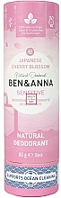 Kup Naturalny dezodorant w sztyfcie - Ben & Anna Natural Natural Deodorant Sensitive Japanese Blossom