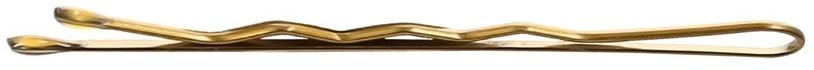Wsuwki, 6 cm, złote - Lussoni Waved Hair Grips 6 cm Golden — фото N1
