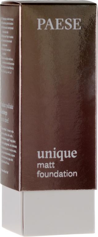 Pielęgnujący podkład matujący do twarzy - Paese Unique Matt Foundation — фото N1