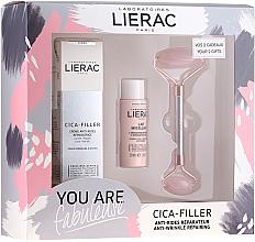 Kup PRZECENA! Zestaw do pielęgnacji twarzy - Lierac Cica-Filler Set (gel 40 ml + milk 30 ml + roller) *