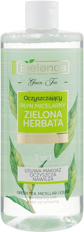 Oczyszczający płyn micelarny 3 w 1 do cery mieszanej Zielona herbata - Bielenda Green Tea — фото N1