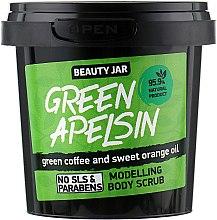 Kup Modelujący scrub do ciała z zieloną kawą i słodką pomarańczą - Beauty Jar Green Apelsin Modelling Body Scrub