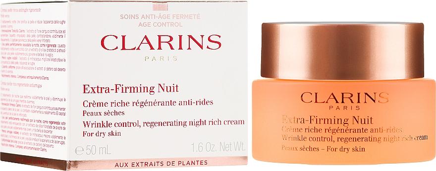 Regenerujący krem na noc przeciw zmarszczkom do skóry suchej - Clarins Extra-Firming Night Rich Cream For Dry Skin — фото N1