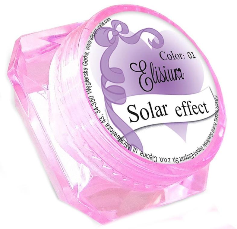Pyłek z efektem opalizującym do paznokci - Elisium Solar Effect — фото N1