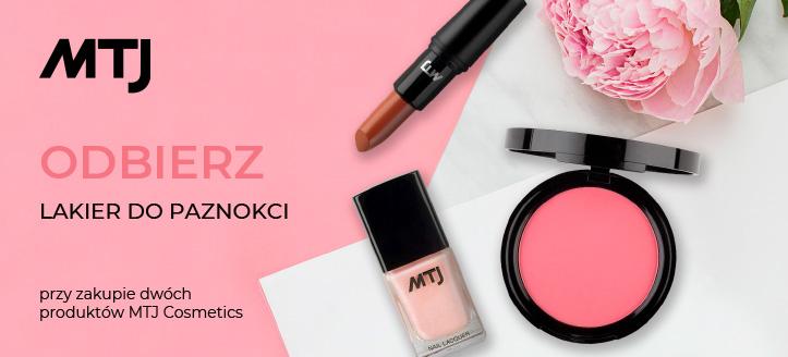 Kup dwa produkty MTJ Cosmetics, a lakier do paznokci otrzymasz w prezencie.