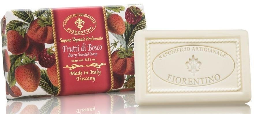 Naturalne mydło w kostce Owoce leśne - Saponificio Artigianale Fiorentino Berry Scented Soap