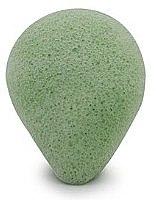 Kup Gąbka konjac do mycia twarzy, kropla Zielona herbata - Bebevisa Konjac Sponge
