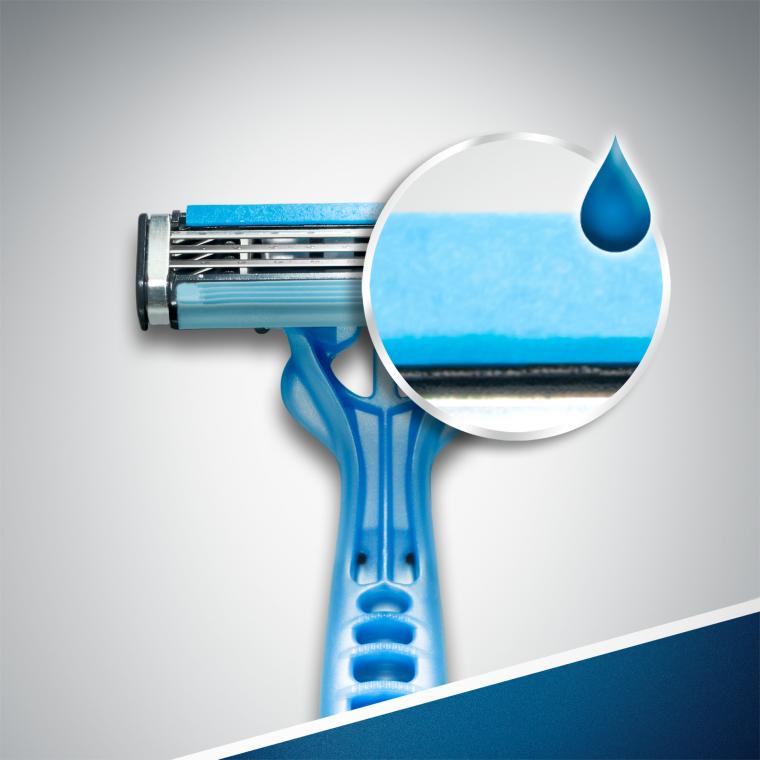 Jednorazowe maszynki do golenia, 6+2 szt. - Gillette Blue 3 — фото N3