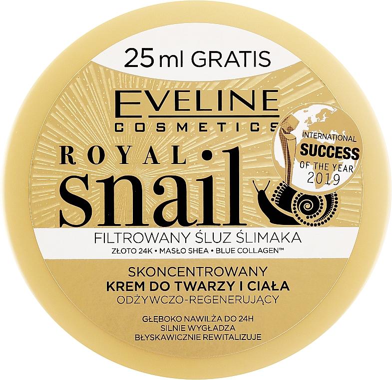 Skoncentrowany krem odżywczo-regenerujący do twarzy i ciała - Eveline Cosmetics Royal Snail