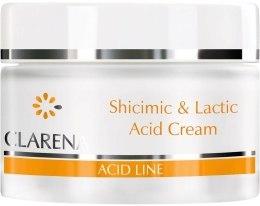 Kup Nawilżający krem do twarzy z kwasem szikimowym i mlekowym - Clarena Lactic Acid Shicimic & Cream