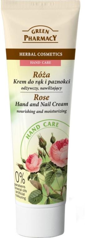 Odżywczo-nawilżający krem do rąk i paznokci Róża - Green Pharmacy Hand Care