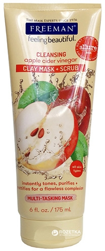 Oczyszczająca maska + peeling z octem jabłkowym - Freeman Feeling Beautiful 4-in-1 Apple Cider Vinegar Foaming Clay