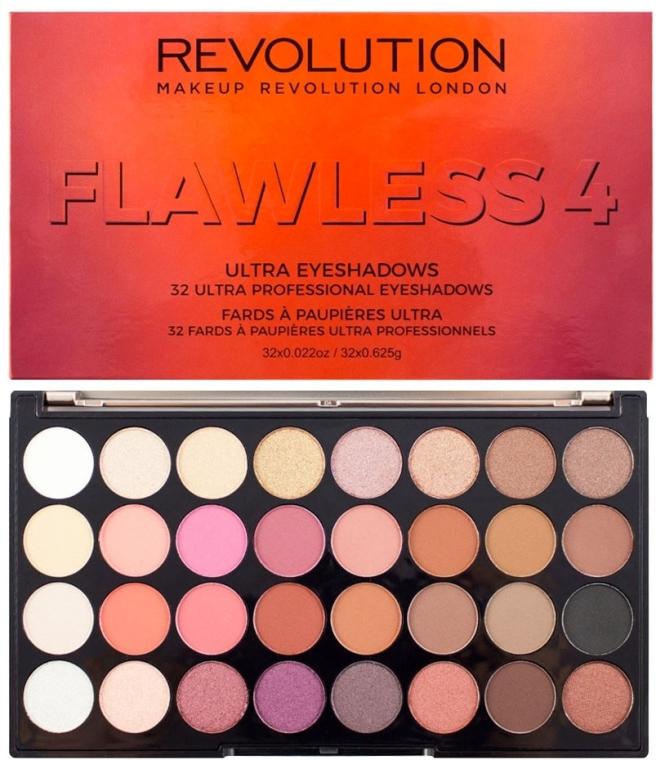 Paleta cieni do powiek - Makeup Revolution Ultra 32 Shade Palette Flawless 4