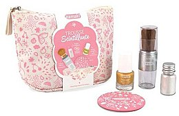 Kup Zestaw - Namaki Glitter Kit (polish/7.5ml+nail/powder/7g+brush+mirror+acc)
