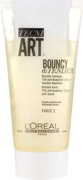 Krem-żel do modelowania loków z efektem antystatycznym - L'Oreal Professionnel Tecni.Art Dual Stylers Bouncy&Tender Cream-Gel