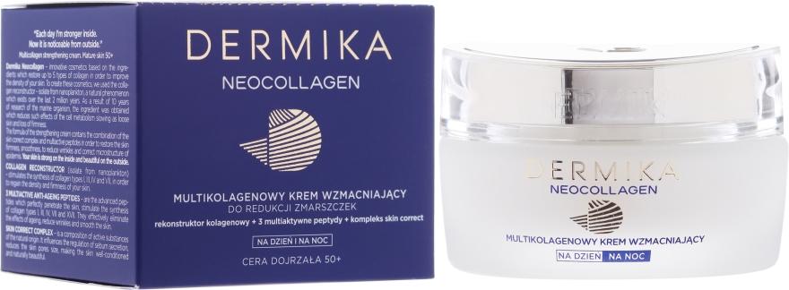Wzmacniający krem do twarzy na noc 50+ - Dermika Neocollagen Cream +50