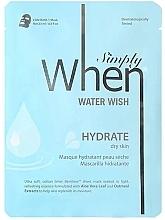 Kup Nawilżająca maska do twarzy w płachcie do cery suchej - When Simply Water Wish