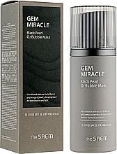 Kup Bąbelkująca maska do twarzy z ekstraktem z czarnej perły - The Saem Gem Miracle Black Pearl O2 Bubble Mask