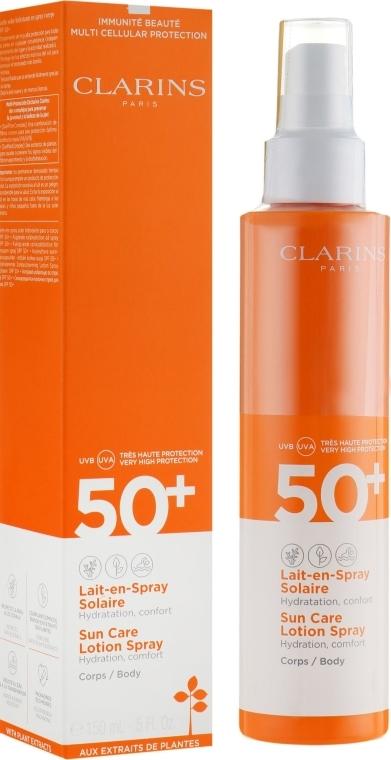 Przeciwsłoneczny balsam w sprayu do ciała SPF 50+ - Clarins Sun Care Lotion Spray — фото N1