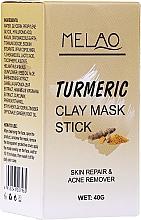 Kup Glinkowa maska w sztyfcie do twarzy Kurkuma - Melao Turmeric Clay Mask Stick