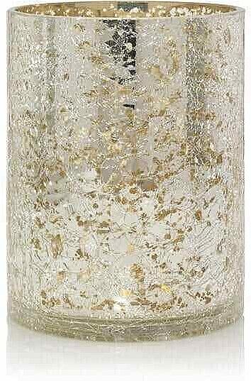 Świecznik świąteczny - Yankee Candle Kensington Mercury Crackle Port Jars Lampshade — фото N1