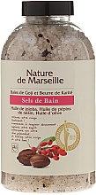 Kup Sól do kąpieli z naturalnymi olejkami i suszonymi owocami o zapachu jagód goji i masła shea Relaksująca kąpiel - Nature de Marseille