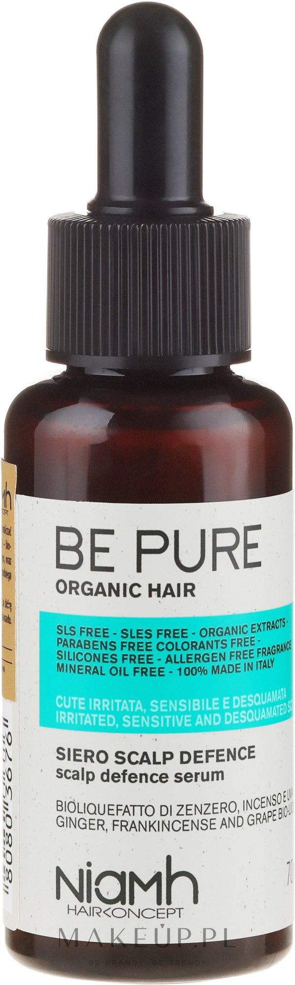 Kojące serum do włosów - Niamh Hairconcept Be Pure Scalp Defence Serum — фото 70 ml