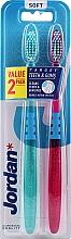 Kup Miękkie szczoteczki do zębów, fioletowa + błękitna - Jordan Target Teeth & Gums Soft