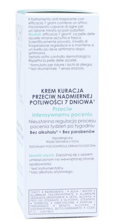Antyperspirant w kremie przeciw intensywnemu poceniu - Vichy 7 Day — фото N5