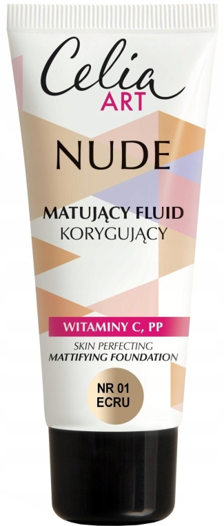 Matujący fluid korygujący - Celia Nude Mattifying Foundation