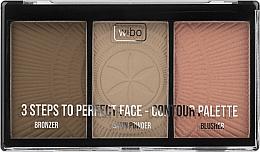 Kup Paleta do konturowania twarzy - Wibo 3 Steps To Perfect Face Contour Palette New Edition