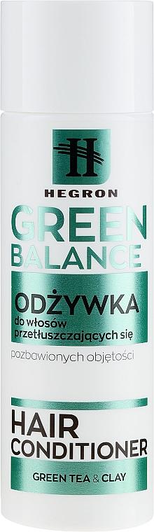 Odżywka do włosów przetłuszczających się i pozbawionych objętości - Hegron Green Balance Hair Conditioner — фото N1