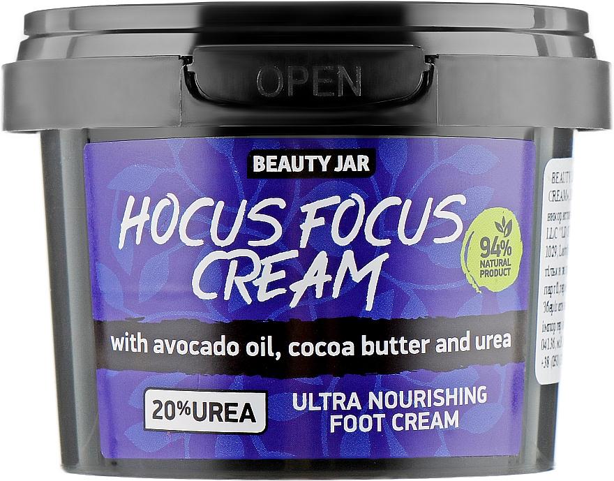 Ultraodżywczy krem do stóp z olejem z awokado, masłem kakaowym i mocznikiem - Beauty Jar Hocus Focus Cream Ultra Nourishing Foot Cream