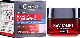 Kup Przeciwzmarszczkowy krem-maska na noc - L'Oreal Paris Revitalift Laser Renew Night Cream-Mask