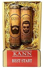 Kup PRZECENA! Zestaw do pielęgnacji twarzy dla mężczyzn - Kann Best Start Man (f/d/cr 50 ml + f/gel 150 ml) *