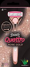 Kup Maszynka z wymiennym wkładem - Wilkinson Sword Quattro for Women Rose Gold