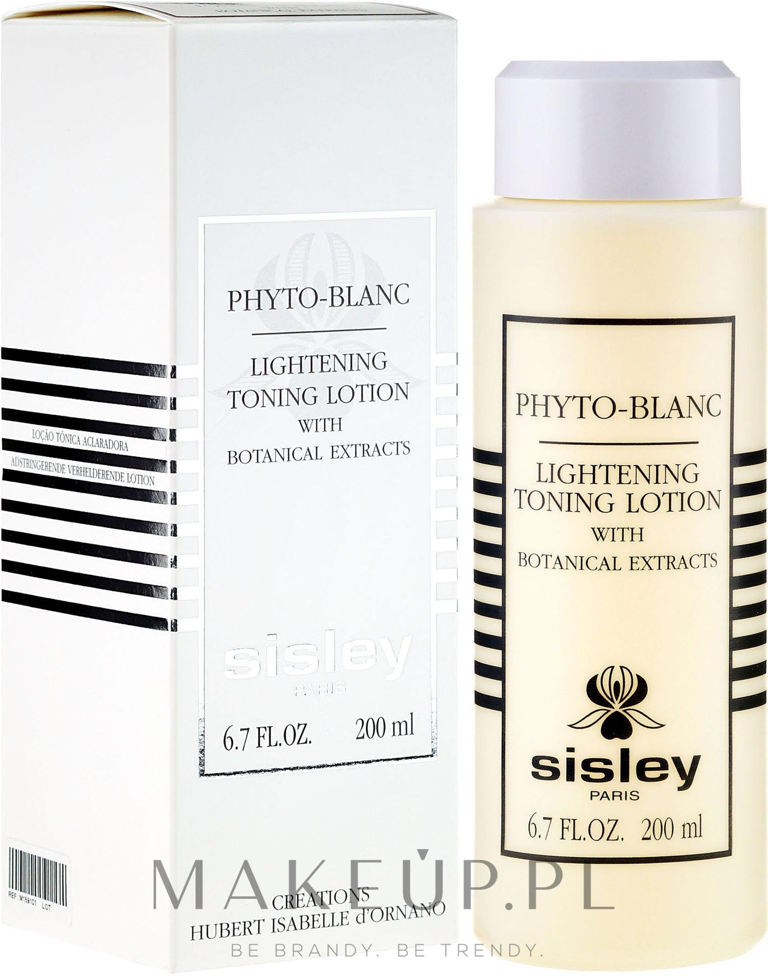 Płyn tonizujący z roślinnymi ekstraktami - Sisley Phyto-Blanc Lightening Toning Lotion — фото 200 ml