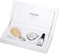 Kup Zestaw - Balmain Paris Hair Couture Silver Brush Set Mini (h/silk/50ml + brush + mirror)