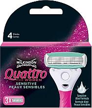 Kup Wymienne wkłady do maszynki, 3 szt. - Wilkinson Sword Quattro for Women Sensitive