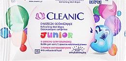 Kup Chusteczki odświeżające o zapachu gumy balonowej, 15 szt. - Cleanic Junior Wipes