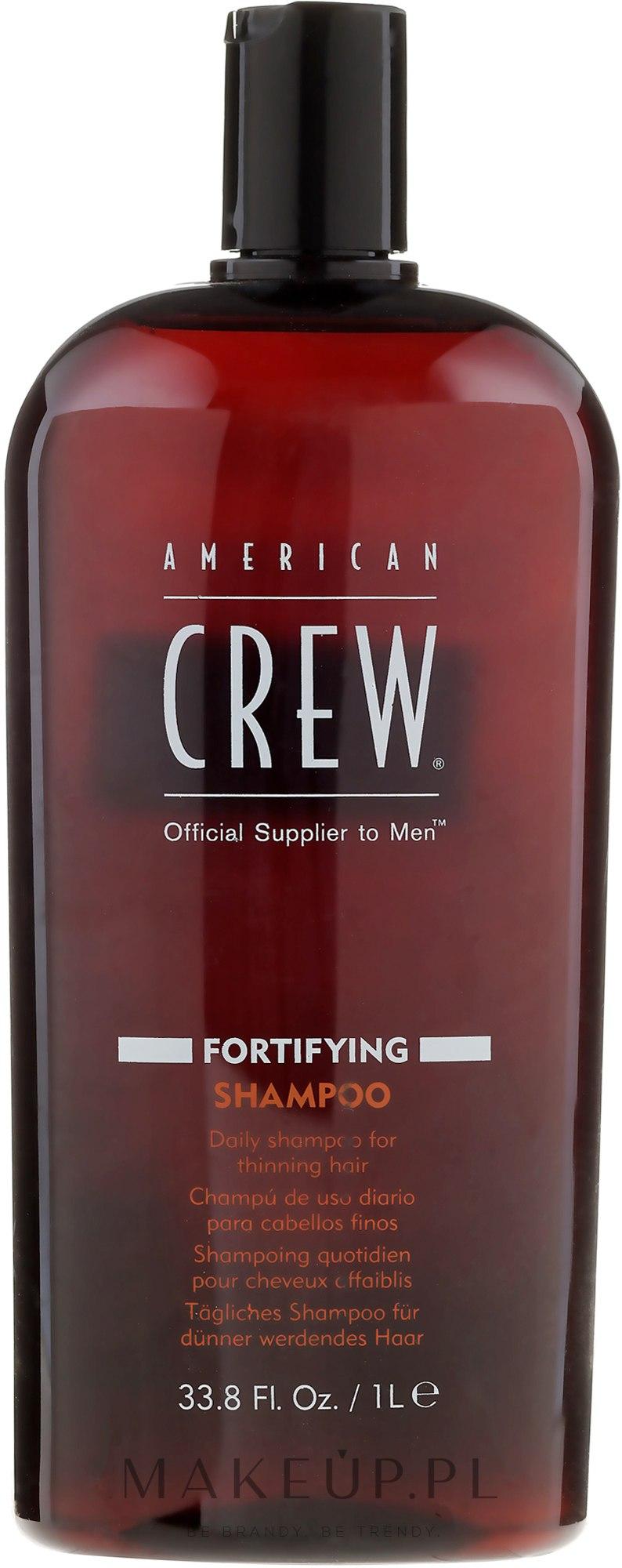 Wzmacniający szampon do włosów - American Crew Fortifying Shampoo — фото 1000 ml