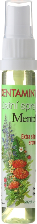 Odświeżacz do jamy ustnej z mentolem - Bione Cosmetics Dentamint Mouth Spray Menthol