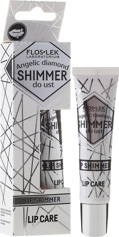 Nabłyszczający balsam do ust - Floslek Lip Care Shimmer Angelic Diamond