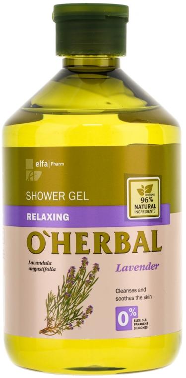 Relaksujący żel pod prysznic z ekstraktem z lawendy - O'Herbal Relaxing Shower Gel