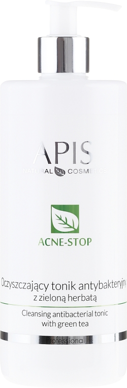 Oczyszczający tonik antybakteryjny z zieloną herbatą - APIS Professional Acne-Stop Cleansing Antibacterial Tonic