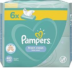 Kup Chusteczki nawilżane dla niemowląt, 6 x 80 szt. - Pampers Baby Fresh Clean