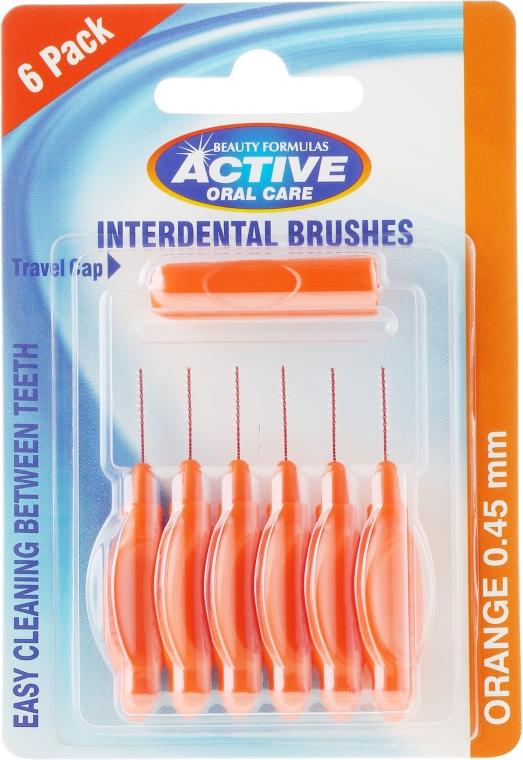 Szczoteczki międzyzębowe, 0,45 mm, pomarańczowe - Beauty Formulas Active Oral Care Interdental Brushes