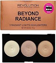 Paletka rozświetlaczy - Makeup Revolution Highlighter Palette Beyond Radiance — фото N1