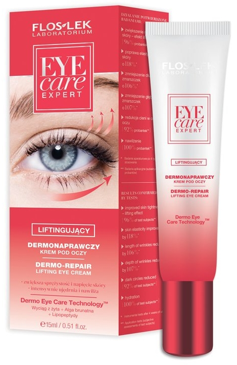 Dermonaprawczy krem liftingujący pod oczy - Floslek Eye Care Expert Dermo-Repair Lifting Eye Cream — фото N1